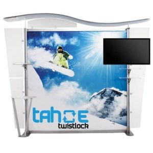 10ft Trade Show TV Backwall