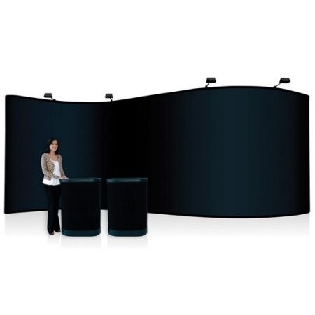 20' Serpentine Display Pop Up System