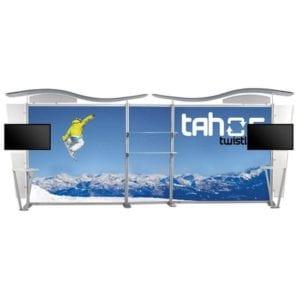 20ft Trade Show TV Backwall