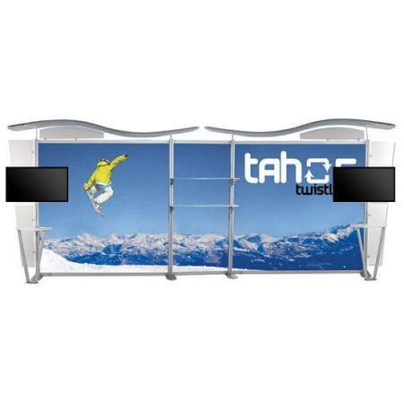 20ft Trade Show TV Backwall