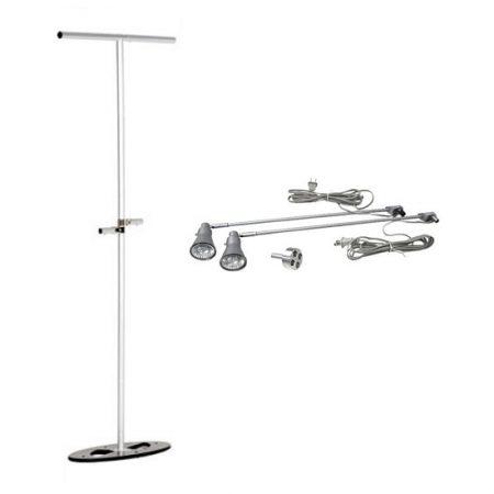 Straight Freestanding 3D Banner Stand w/ Optional Shelf Brackets