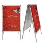 Floor Poster Stands Aluminum
