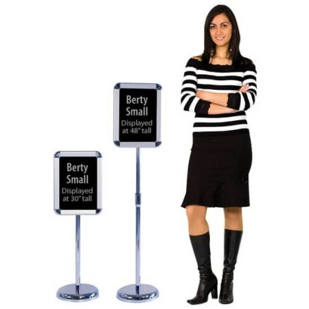 Floor Poster Stands Chrome