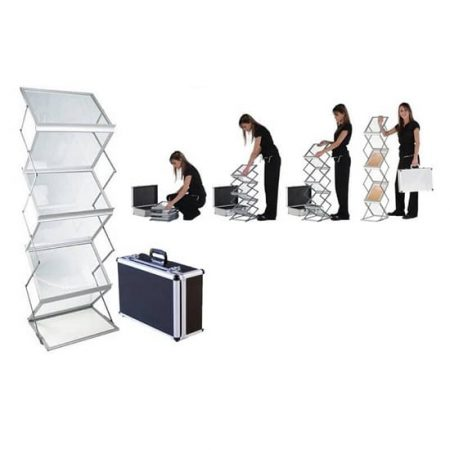 Double Literature Racks with case