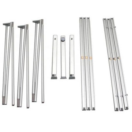 3 pc Curved L-Banner Stand Hardware
