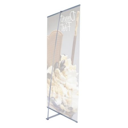 "36"" L-Banner Stand Rear View"