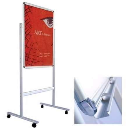 Floor Poster Stands Silver