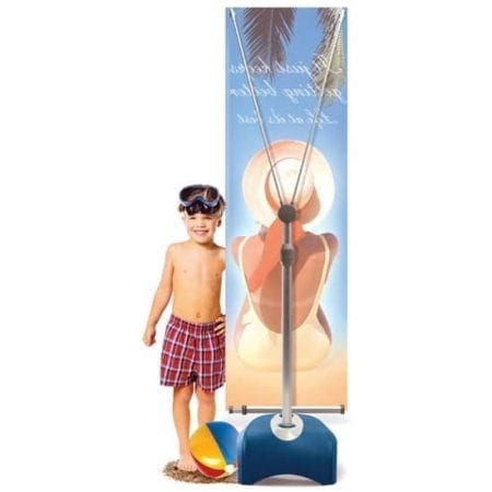 Outdoor Displays Zephyr 1-Sided Outdoor Banner Stand