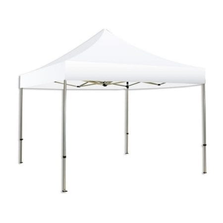 10ft Solid Color/Logo Canopy Tent - White Solid Pkg