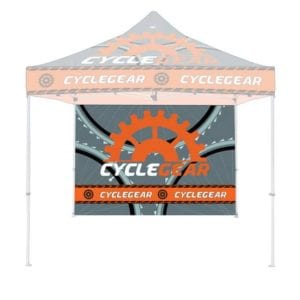 10' Full Color Print Outdoor Canopy Tents Full Wall - Steel