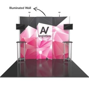 Hybrid Booth 01 - Illuminated Walls
