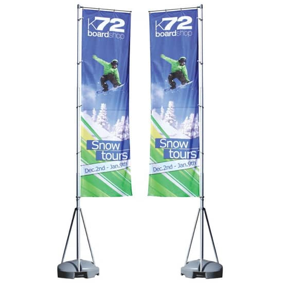 hanging banners for exhibitions