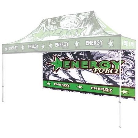 15' Full Color Print Outdoor Canopy Tents Full Wall