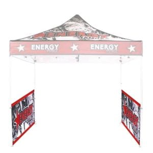 10'x10' Trade show tent with half walls
