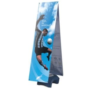 Outdoor Displays Zephyr 2-Sided Outdoor Banner Stand