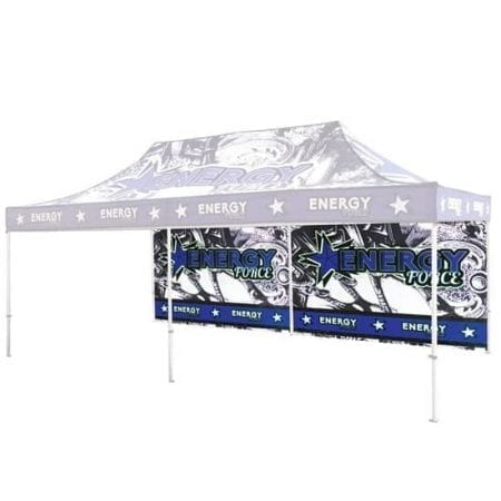 20' Full Color Print Outdoor Canopy Tents Full Wall