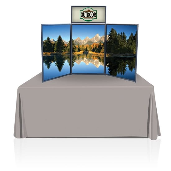 6ft Panel Table Top Display Philadelphia Amp California
