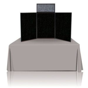 6ft Tabletop Panel Display, Black Fabric