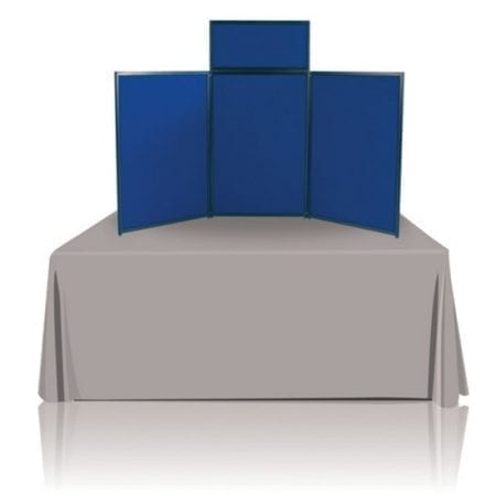 6ft Tabletop Panel Display, Blue Fabric