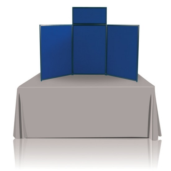 6ft Panel Tabletop Display Blue