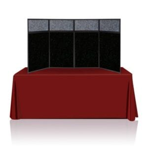 8ft Tabletop Panel Display Black Fabric
