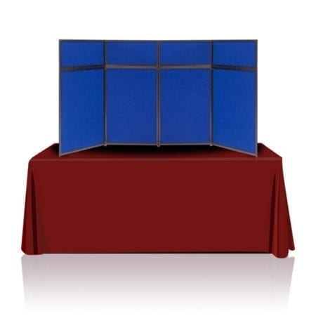 8ft Tabletop Panel Display Blue Fabric