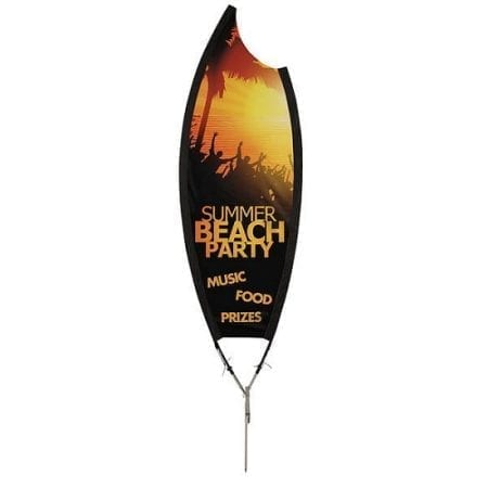 9' 2-Sided Claw Outdoor Sail Sign