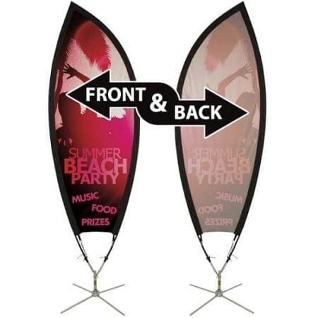 Petal Outdoor Flying Banner with Scissor Base