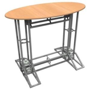 Orbital Truss Counter - Oval w/o Plexiglass and Shelf