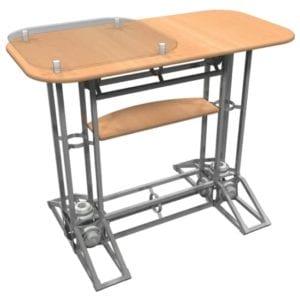 Orbital Truss Counter - Rectangle w/ Plexiglass and Shelf