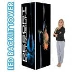 Small Trade Show Towers – LED Backlit