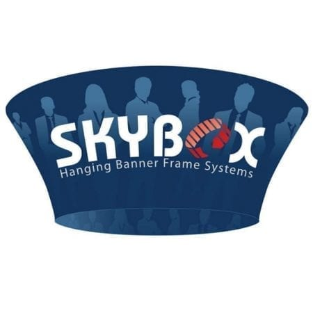 Skybox 2-Sided Tapered Circle Hanging Display