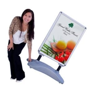 Outdoor Displays Outdoor Banner Stand Water Base with Wheels