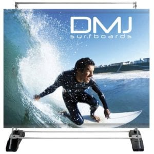 Outdoor Displays Outdoor Banner Stand Wall, 1-Sided