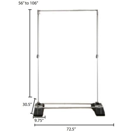 Outdoor Displays Zeppy Banner Stand Frame