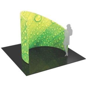8' Fabric Exhibit C-Shaped Divider