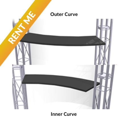 Rental Curved Shelves