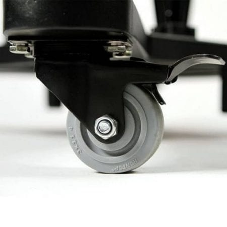 EZ Fold Wheeled TV Stand - Casters