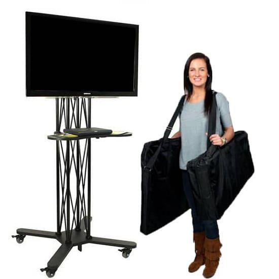 Portable Tv Exhibition Stand : Ez fold wheeled tv stand philadelphia california trade