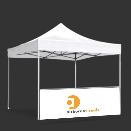 custom pop up tent railskirts premium canopy tent railskirt available in 1 and 2 sided - Custom Pop Up Tents