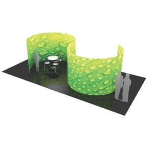 20' Fabric Exhibit S-Shaped Divider