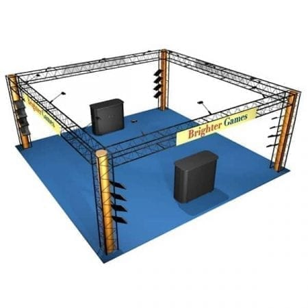 20' x 20' Turnkey Truss Rental - Crystal