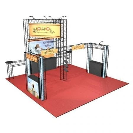 20' x 20' Turnkey Truss Rental - Emerald