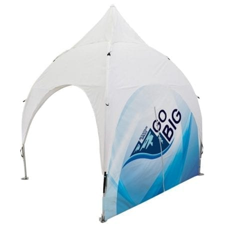 10' x 10' Giant Outdoor Canopy Tent - Full Dye Sub w/ Middle Zipper