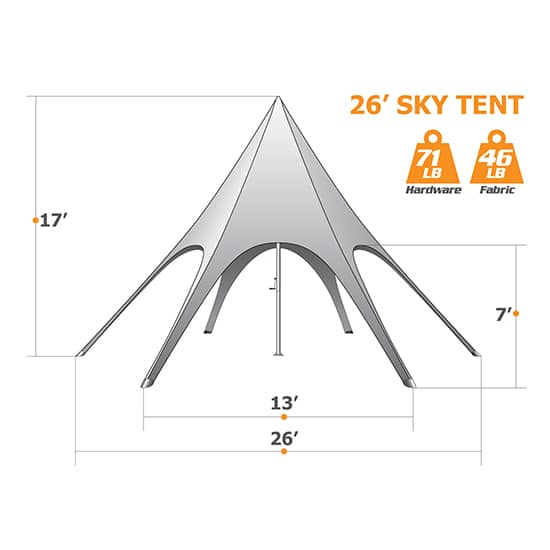 26ft Star Tent