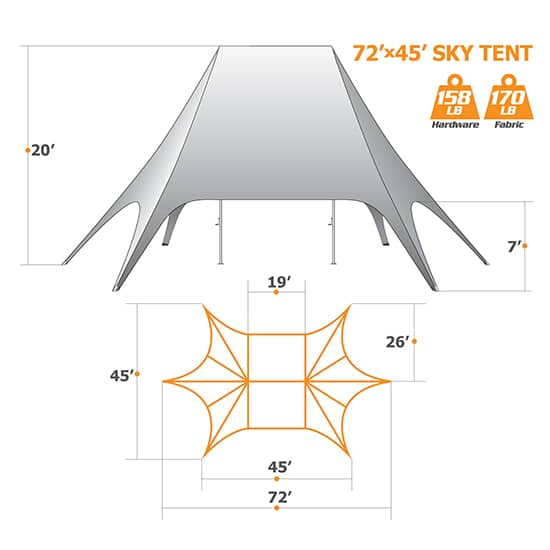 72ft x 45ft Star Tent