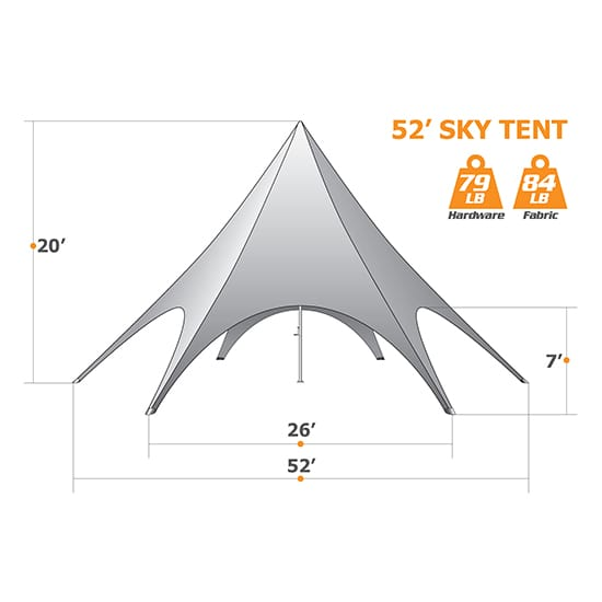 52ft Star Tent
