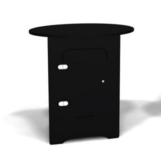 Portable Locking Counter with Oval Top