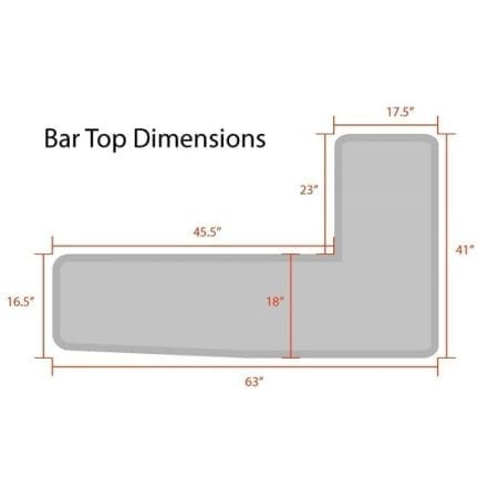 Bar Top Dimensions
