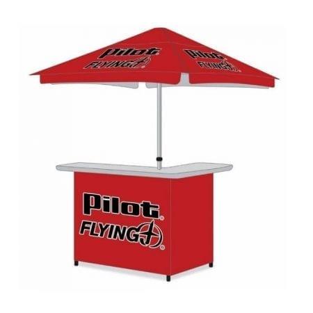 Custom Branded Canopy Bar - Bar and Umbrella